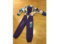 Vintage ski onesie