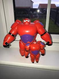 2 x Baymax toys from Big Hero 6 movie