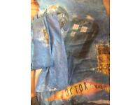 Doctor Who curtains, single duvet sheet and single duvet + wooden curtain pole