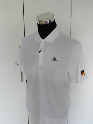 Adidas Polo Deutschland Herren weiß, bügelfrei, GR .XL  UVP 49,95 Euro