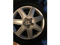 Set of four , 5 x 112 alloy wheels 16 inch and good tyres Seat, Audi , mk5 golf etc