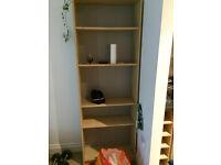 shelf unit, futon and duble bed frame