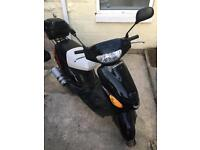 UNUSED! 50cc scooter moped with windscreen and top box
