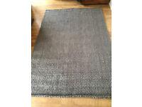 RRP £149 - MADE . COM 100% JUTE Woven Dark Dark Grey 160cm x 230cm - NEW