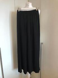 Zara Black Maxi Summer Skirt 8