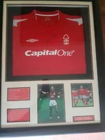 Signed Stuart Pearce Nottingham Forest Football Shirt