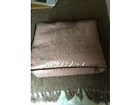 Marks and Spencer's quilted pink king throw