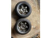 4x100 AD Brock Wheels 16inch