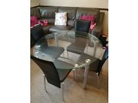 Barker and Stonehouse extendable dining table and 4 chairs
