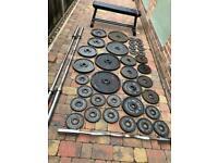 Home Gym Setup, Barbells, Weight Plates
