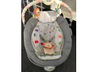 Taggies baby bouncer bouncy chair seat