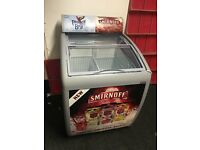 Parrot Bay /Smirnoff Pouch freezer display unit with sliding glass lid