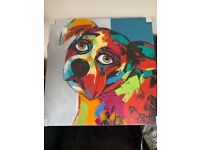 Large Abstract Dog Canvas