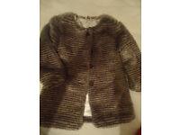 Girls fur coat 3-4
