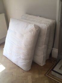 LARGE FEATHER FILLED BARKER & STONEHOUSE CUSHIONS! USED BUT EXCELLENT CONDITION
