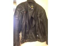 "Leather Jacket Black Motorcycle ""Gear"" Brand Keprotec Schoeller Size M"