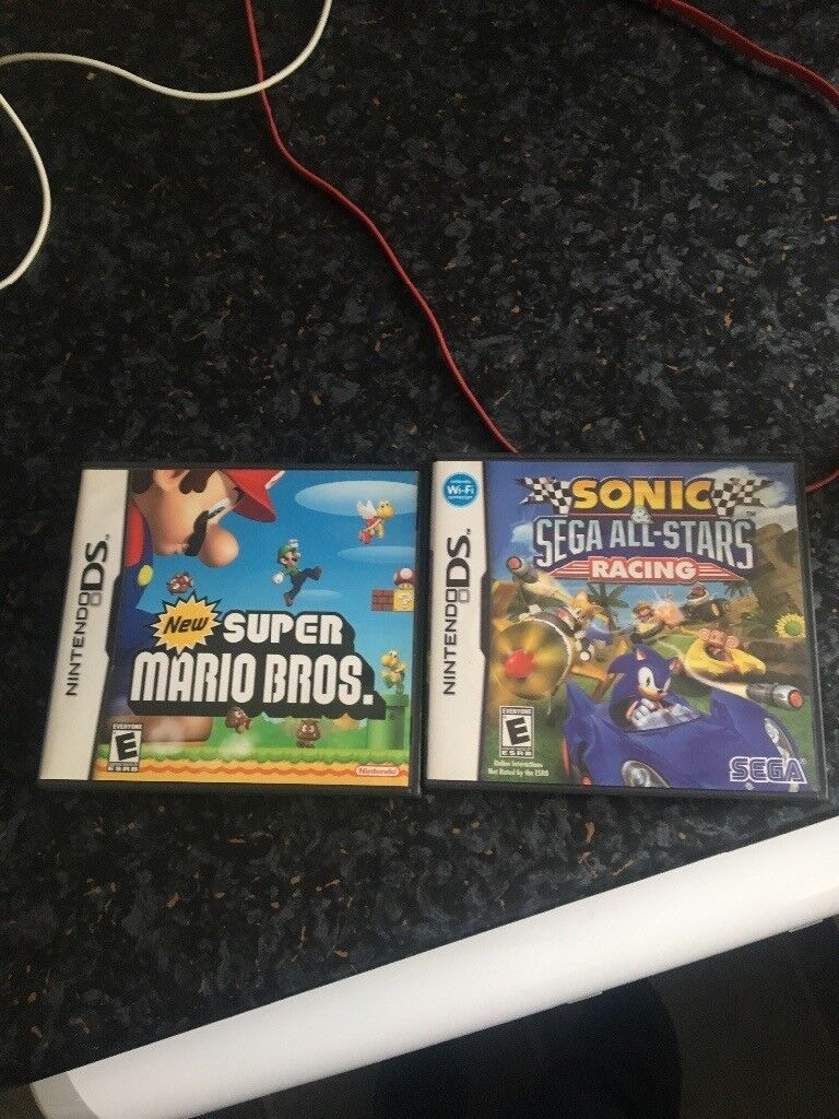 Super mario bros and sonic all star racing ds games