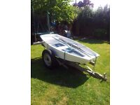 Dinghy with trailer and oars