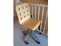 Swivel Study Chair in Veneer Wood