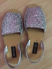 Sparkly Sandals Size 6