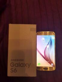 samsung galaxy s6 32gb gold EE crack on back