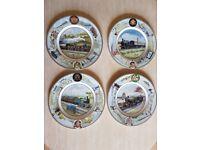 Coalport Collectors Plates. Seaside Specials Train Plates. Set of 4. £20 the Lot.