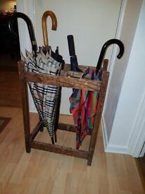 Umbrella/Cane/Walking sticks stand made of solid oak. £25 in Wimbledon. SW19 8JN