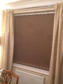 Brown vertical blinds - good condition