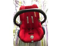 Maxi cosi red and black cabrio fix first car seat group 0+