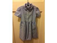 School dress (blue gingham)