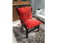 Chair made of wicker