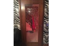 Door Store Walnut Glass Doors x 2