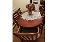 6 seat extending dining table