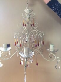 Crystal Wrought Iron Chandelier