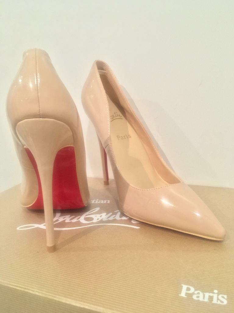 fb3d85e7cf2 Christian Louboutin so kate nude heels size 5/6 | in Greenwich, London |  Gumtree