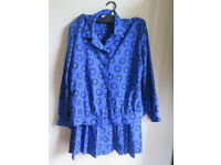 Blue summer dress and top Marcelle Griffon