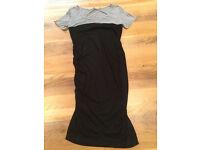Seraphine Maternity Dress - Size 12, Black with Light Grey