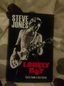 Steve Jones lonely boy hardback