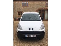 PEUGEOT PARTNER, WHITE, 2011 (61) WELL LOOKED AFTER, DVD, REVERSE CAMARA,
