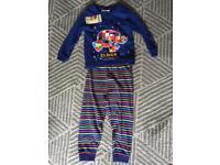 Jojo Maman Bebe rainbow stripe Elmer pyjamas BNWT 3-4y