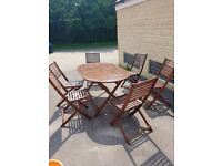 garden furniture and 6 chairs