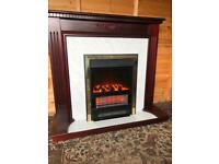 Electric fire and mahogany surround (can deliver)