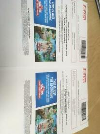 2 x chessington tickets