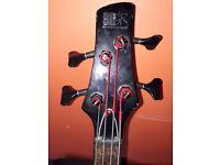 Left handed Ibanez Bass Guitar