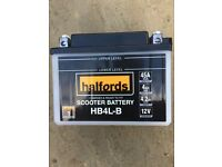 Brand new Halfords battery for 50cc bike
