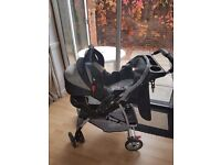 Graco Travel system pushchair and car seat