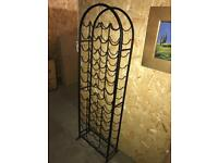 Metal tall wine rack