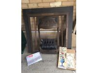 Cast Iron Fireplace, new stoven tiles,coal effect gas fitting