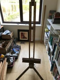 Rowney floor free standing Artists painting easel art paint canvas holder