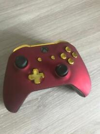 Red Velvet and Gold Xbox One Controller